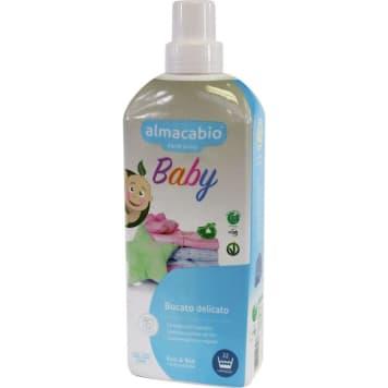 Płyn do prania ubranek - Almacabio Baby. Skuteczny w usuwaniu tłuszczu, żywności oraz plam.