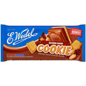WEDEL Cookie Milk chocolate with cocoa nut filling with nuts 290g