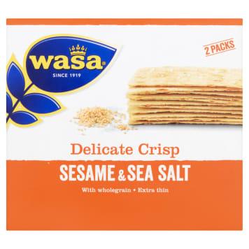 Wasa Delicate Thin Crisp - Pieczywo chrupkie z sezamem - cienkie kromki i wyrazisty smak