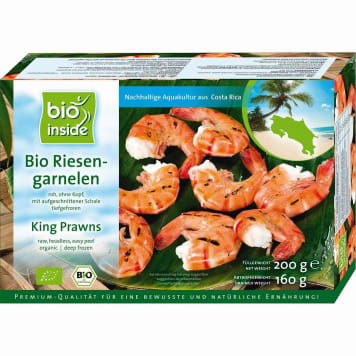 BIO INSIDE King prawns frozen BIO 160 g
