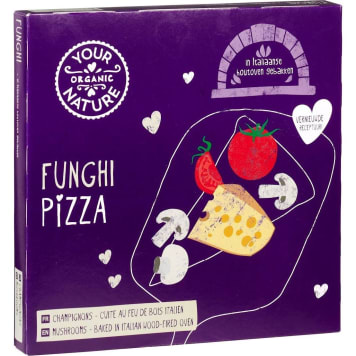 YOUR ORGANIC NATURE Pizza with mushrooms frozen BIO 350g