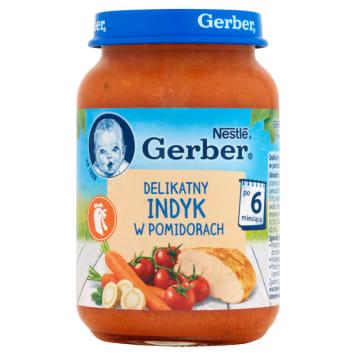 Delikatny indyk w pomidorach - Gerber Obiadek. Smaczny posiłek dla każdego dziecka.
