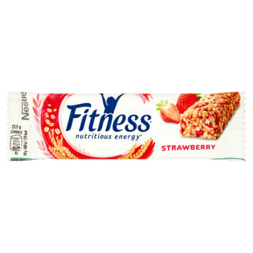 Nestlé Fitness Baton z truskawkami to niskokaloryczna, lekka przekąska z błonnikiem.