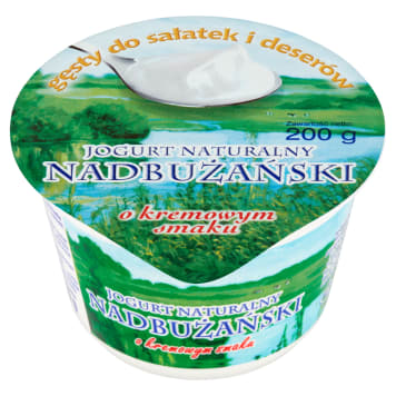 Jogurt Nadbużański 9% – aksamitna konsystencja, doskonały smak i wysoka zawartość wapnia.