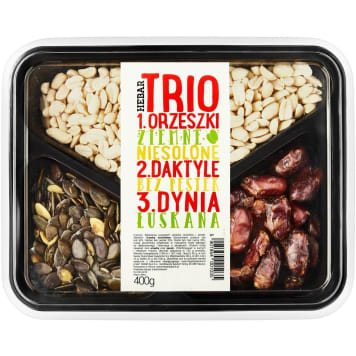 HEBAR Trio peanuts pumpkin dates 400g