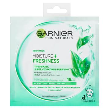 Garnier - maska kompres Moisture + Freshness pozwala walczyć z przesuszaniem się skóry.