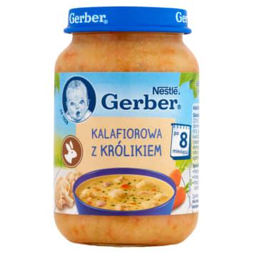 Domowa zupka kalafiorowa z królikiem - Gerber. Pyszny i urozmaicony obiad dla niemowląt.