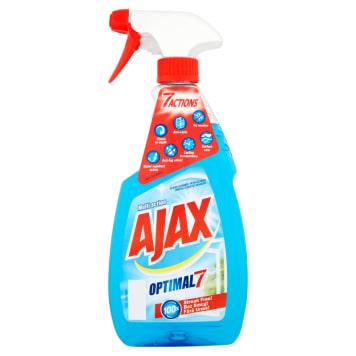 Płyn do mycia szyb - Ajax. Doskonale czyści i nie zostawia smug.