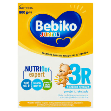 Bebiko Junior – mleko modyfikowane po 12 miesiącu 800 g. Mleko wspierające prawidłowy rozwój dziecka