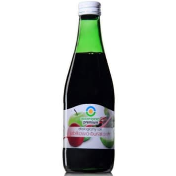 Sok jabłkowo-burakowy bio – Bio Food powstaje w wyniku pasteryzacji składników.