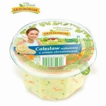 GRZEŚKOWIAK Surówka coleslaw wykwintny z sosem chrzanowym 300g