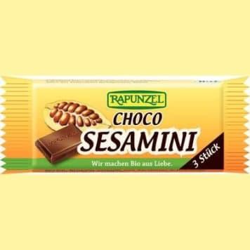 Sezamki w czekoladzie bio – Rapunzel produkt z ekologicznych składników z czekoladą.