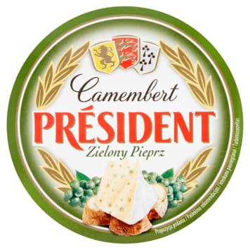 Ser cemembert marki President z dodatekiem zielonego pieprzu z pewnością zachwyci koneserów.