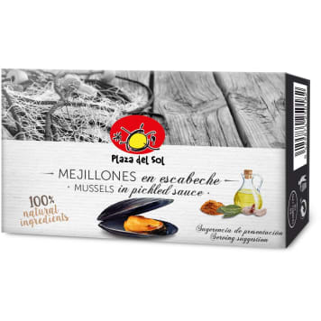 PLAZA DEL SOL Marinated mussles 115g