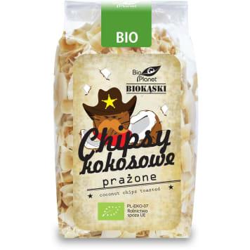 Chipsy kokosowe prażone Bio - Bio Planet. Zdrowa i smaczna alternatywa tradycyjnych chipsów.