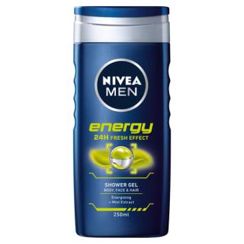 NIVEA MEN Żel pod prysznic Energy 250ml - świeżość i pobudzająca energia pod prysznicem.