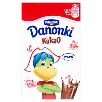 Danone - Napój kakaowy Danonki w tekturowym kartoniku. Znakomicie smakuje i dzieciom, i dorosłym.