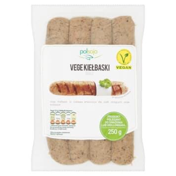 Vege Kiełbaski grillowe białe POLSOJA 250g. Świetna alternatywa dla tradycyjnych mięs i kiełbas.