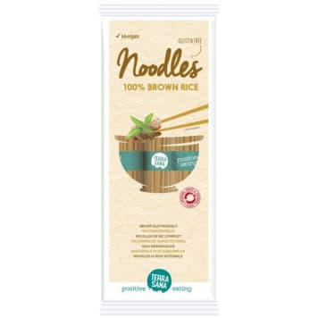Makaron z brązowego ryżu to zdrowsza alternatywa dla tradycyjnego makaronu. Produkt EKO.