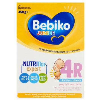 Bebiko Junior 4R Mleko modyfikowane po 2 roku życia z kleikiem ryżowym dostarcza wapnia i żelaza.