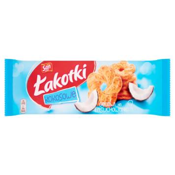 San – Łakotki ciasteczka kokosowe delikatnie chrupią i umilają czas.