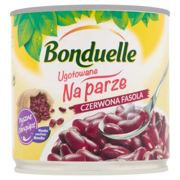 Gotowana na parze fasola czerwona – Bonduelle jest bogata w witaminy i gotowa do spożycia zaraz po otwarciu.