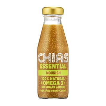 Sok owocowy z nasionami chia - Chias. Naturalnie pobudzający napój dla wszystkich fitmaniaków.
