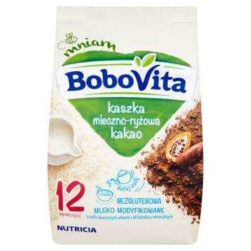 Kaszka mleczno-ryżowa kakowa - Bobovita. Sycący posiłek dla dziecka po 12.miesiącu.