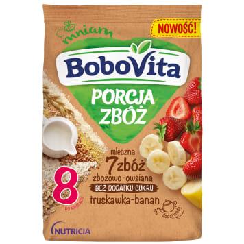 BOBOVITA Porcja Zbóż Kaszka mleczno-ryżowa z chrupkami ryżowymi owocowa po 10 miesią 210g