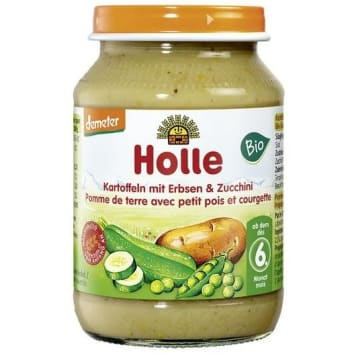 HOLLE Obiadek ziemniaki z groszkiem i cukinią - po 6 miesiącu BIO 190g