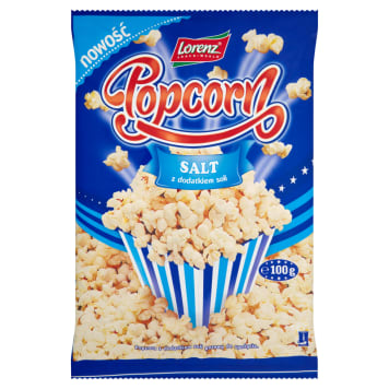 LORENZ Popcorn  with salt added 100g