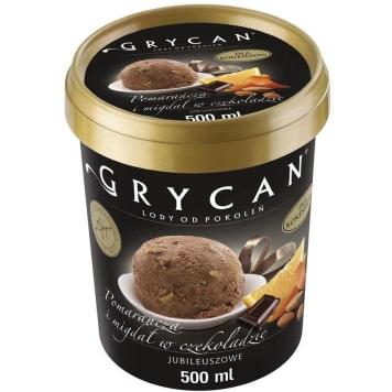 GRYCAN Orange ice cream with almonds in chocolate 500ml