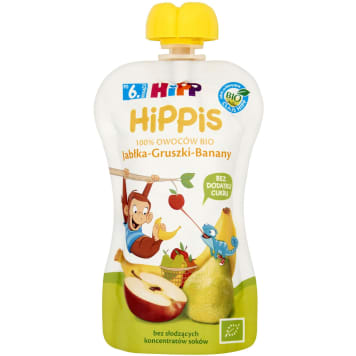 HIPP HiPPiS Apples-Pears-Bananas Fruit Mousse after 6 months 100g