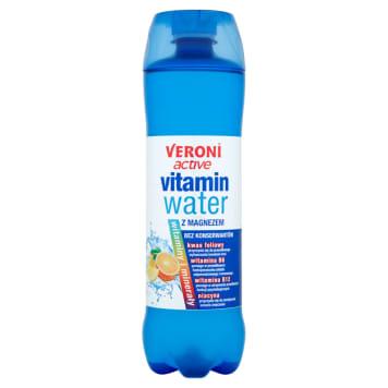VERONI ACTIVE Vitamin Water Napój niegazowany o smaku cytryny-pomarańczy z magnezem 700ml