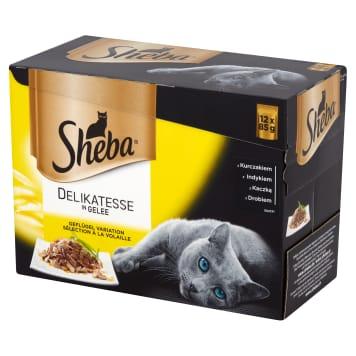 SHEBA Delicacy in Jelly Pokarm dla kotów - Smaki Drobiowe (12 saszetek) 1.02kg