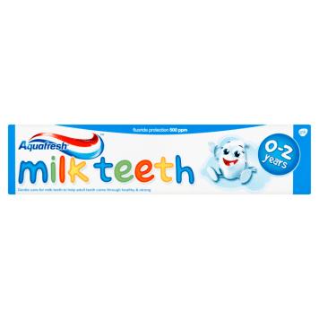 Pasta do zębów dla dzieci - Aquafresh. Delikatna pasta z fluorkiem, idealna do mlecznych zębów.