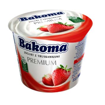 BAKOMA Premium Jogurt truskawkowy 300g