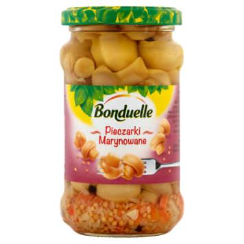 Bonduelle Marynowane pieczarki tradycyjne 314ml - doskonałe jako składnik sałatki lub solo.