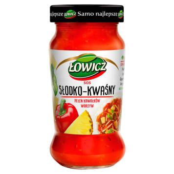 ŁOWICZ Sos słodko - kwaśny 350g - naturalny sos, na bazie znakomitych składników.