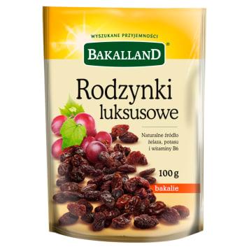 Bakalland - Rodzynki luksusowe. Doskonały smak suszonych bakalii nadający się do codziennej diety.