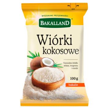 Wiórki kokosowe - BAKALLAND. Część jadalna orzecha kokosowego, biała warstwa.