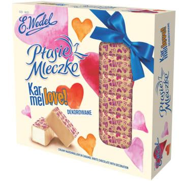 WEDEL Ptasie Mleczko® Vanilla  Decorated - pink hearts 380g