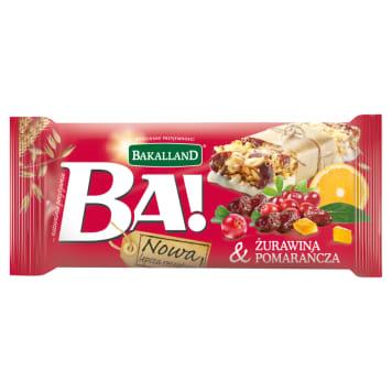 Bakalland Ba! - Baton zbożowy z żurawiną 40g. Bardzo pyszna i zdrowa przekąska.