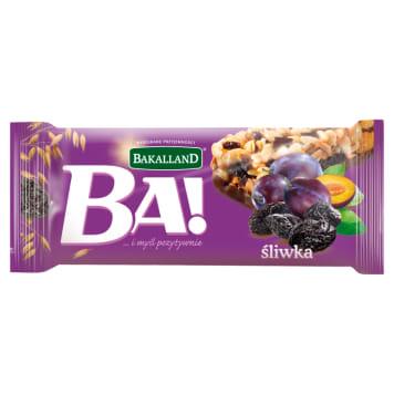 BAKALLAND baton śliwki polewa kakao 40g. Zdrowa alternatywa dla tuczących przekąsek.
