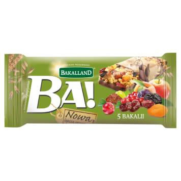 Bakalland Ba! - bakaliowy baton zbożowy w polewie. Jest smaczny i pożywny.