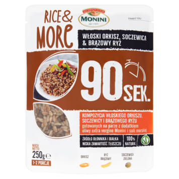 MONINI Rice&More A composition of Italian lentil and brown rice 250g