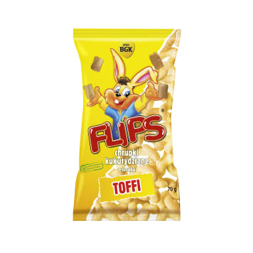FLIPS Corn crisps with toffee flavor 70g