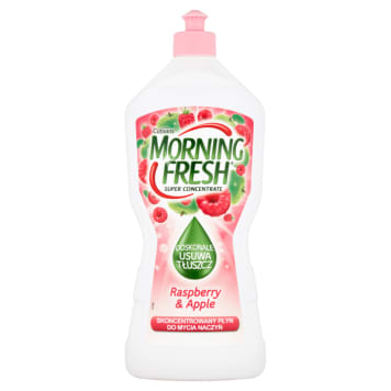 MORNING FRESH SUPER CONCENTRATE Płyn do mycia naczyń Raspberry&Apple 900ml