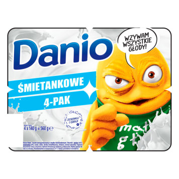 Serek homogenizowany – Danone Danio. Pozwala złagodzić głód w kilka minut i pysznie smakuje.
