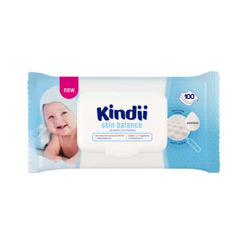 KINDII Skin Balance Baby wipes 100 pieces with pop up 1pc